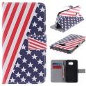 Ledertasche Motiv Amerika für Samsung Galaxy S6