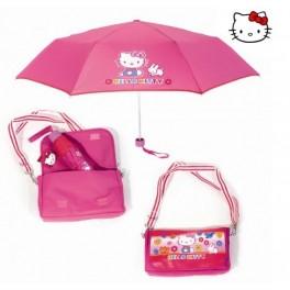 Kinder Regenschirm r53 cm mit Tragetasche Hello Kitty