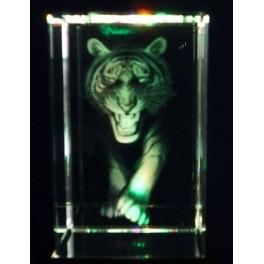 3D Kristall, Motiv Tiger