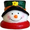 Schneemann mit schwarzem Hut
