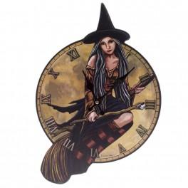 Bilderuhr - Motiv Hexe auf Besen