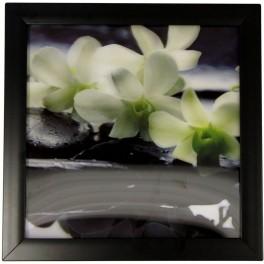 3D Bild mit Rahmen - Motiv Orchidee