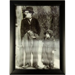 3D Bild mit Rahmen - Motiv Charlie Chaplin