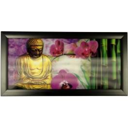 3D Bild mit Rahmen - Motiv Buddha