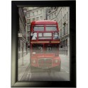 3D Bild mit Rahmen - Motiv Londoner Bus