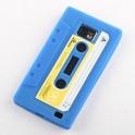 Kassetten Hülle für Samsung Galaxy S2, blau