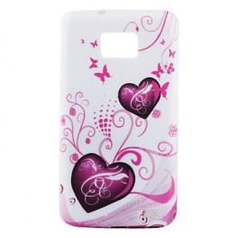 Herzenmuster Softcase für Samsung Galaxy S2