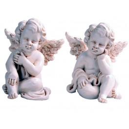 Engel sitzend im 2-er Set
