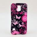 Schmetterling Blumen Soft Case für Samsung Galaxy S5